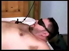 Amateur fatty bondage and oral