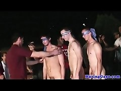 College amateurs blindfolded and hazed