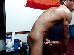 Hot Guy Jacking On Bed 6