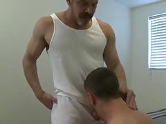 Boy Sucks Girlfriend's Dad's Big Hard Cock