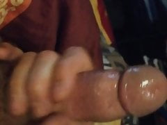 Sucking the big cock of my husband