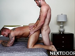 Sexy ass Johnny Hill fucking tattooed hunk Donovan Wilde