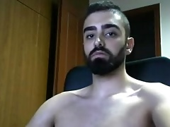Greek Gorgeous Fit Boy Cums On Cam,Big Cock,Great Round Ass