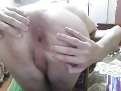 Belarus,Cutie Gay Cums-Eats It,Puts Fingers In His Round Ass