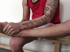Young Tom Uli Foot Fetish Jerk Off