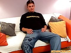 Sexy twink Adam Markinson  hot ass fingering and jerking off