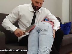 Lazy Sergio Spanked