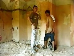 Two Guys Fuck Raw In Old Building