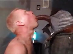 Love a blondy with black meat in his mouth
