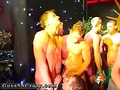 Naked young guys at party movie gay CUM RACE!