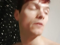 Twink cums on own face messy self facial