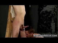 Hairy mature bondage movie and gay leather thumbs Skinny Slave Cums