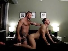 Two Musclestuds Double Penetrate Then Breed Twink Fucktoy