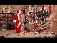 Young Twink Ryan Marchal fucked by a manly &amp_ well endowed Santa Chris Loan