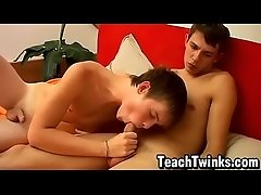 Slender young men have amazing mutual cock sucking session
