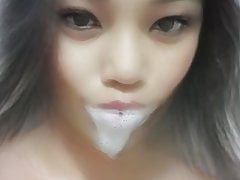 Horny Asian femboy is thirsty