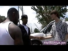 Blacks On Boys - White Skinny Gay Boy Fucked By Big Black Cock 17