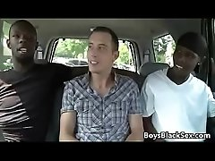 Blacks On Boys - Gay Bareback Interracial Rough Fuck Video 23