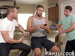Forbidden stepsons and daddies bareback spitroast fourway