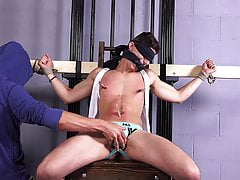 Hung Twink Aiden Ward Big Cock Edging - Gay Bondage BDSM