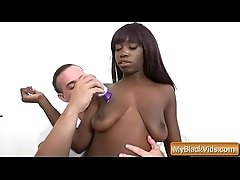 Round and Brown sexy ebony godess worships white fat cock 08