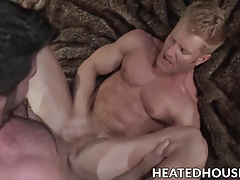 Good looking blonde twinkie loves a raging rod in his ass