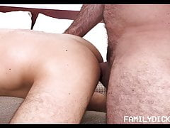 Twink Stepson Needs Help From Stepdad With His Huge Cock