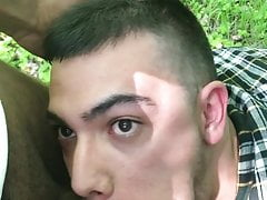 Bulgarian fag sucks dicks in the park
