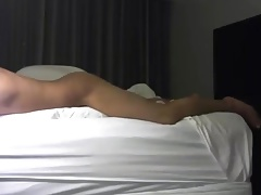 Hotel bed pillow humping cum