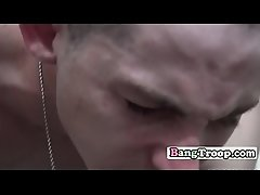 Young soldier pounded with fat dick