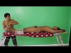 Asian Boy Josh Tied and Tickled