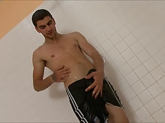 Gay Solo Shower Masturbation