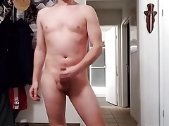 Naked & Nude Flopping My Cock Around