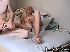Boy puts his bare feet on guys face gay first time Two Twinky Foot