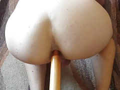 Teen doing anal bareback with new toy