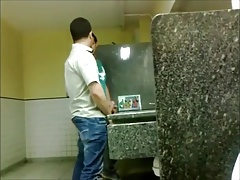 sucking on public toilet