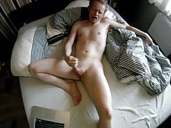 Jerking on bed