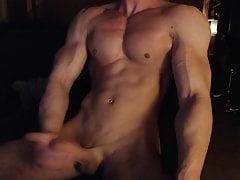 Muscle hungarian Boy wanks his hard cock