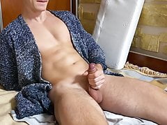 Young Horny Guy make Big Cum on Himself