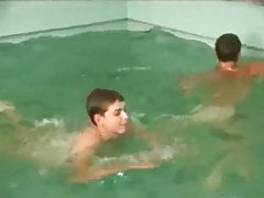 3 twinks at swimming pool