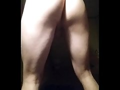 White boy twerking his virgin booty.