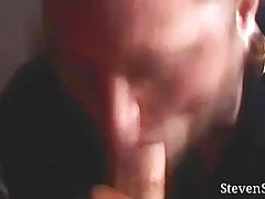 Steven Sinner sucks not-his-brothers younger cock and facial