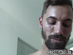 Straight turned gay cums from riding hard big dick in POV
