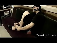Twink male gay feet Rubbing his penis against his feet he gets