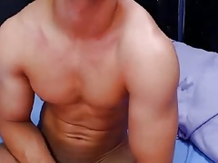 Russian Handsome Boy Cums Twice,4 Fingers In His Bubble Ass