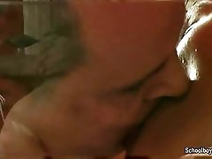 Tipsy twink's fucked by a mature man