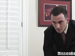 Mormon twink sucks horny elder after serving him his ass