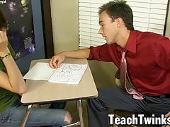 Disobedient twink Timo Garrett banged after blowing teacher