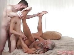 threesome with dad and boy- Austin Lock