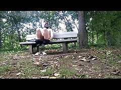 Naked on a bench - GayCamz.xyz